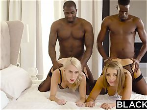 BLACKED Adriana Chechik and Cadence Lux first-ever bi-racial four-way