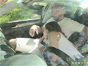 Hopeful driver Sara Luvv ravages her driving professor