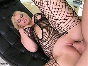Brooklyn Bailey enjoys the bulky sword working rigid to pour out on her