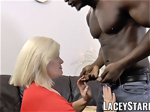 LACEYSTARR - grandmother anally creampied with big black cock