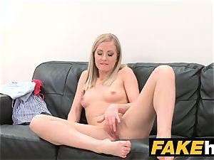 fake Agent bashful blonde model luvs smooth-shaven twat ate