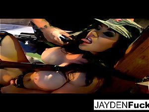 Jayden gets busy on a lucky solo trouser snake