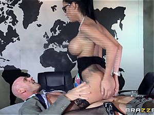 huge breasted Peta Jensen pulverized throughout the boardroom table