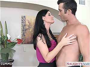 excellent black-haired India Summer porking