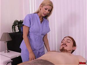 platinum-blonde cougar pulsating fuck-stick Having Some painful ejaculation