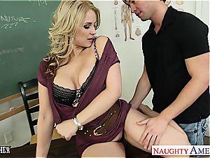 ultra-kinky professor Sarah Vandella pound in classroom