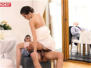 LETSDOEIT - StepMom pulverizes StepSon With husband Sleeping