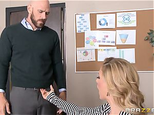 mummy manager Cherie Deville gets shafted by a humungous dicked employee