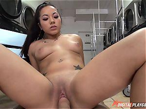 Morgan Lee inhaling and fuckin' cock pov style