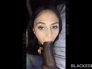 BLACKEDRAW crazy brunette wifey enjoys ebony shaft in her motel apartment
