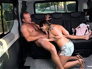 poked IN TRAFFIC - sex in the car with Czech cutie