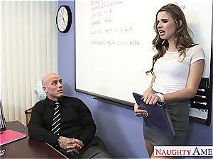 slender Jillian Janson crazy for her teacher's dick