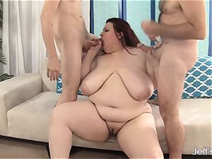 nice bbw Is double Teamed by two immense dicks