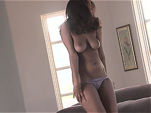 super-fucking-hot honey Isis Taylor gets humid and naughty on the sofa for red-hot activity