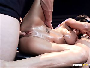 knob insane Peta Jensen gets shafted from both ends