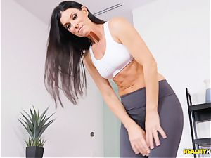 super-naughty milf India Summers thrashed in the coochie during yoga