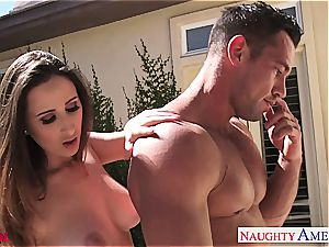 witness as Ashley Adams gets a explosion on her breasts