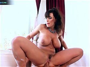 Lisa Ann luvs sitting into Toni Ribas humungous trouser snake