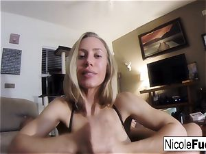 Home vid of Nicole Aniston giving a point of view suck Job