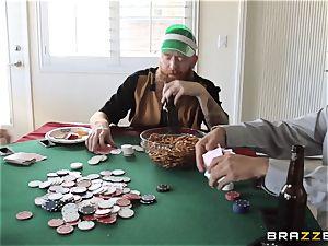 Sarah Jessie smashing her spouses poker mate