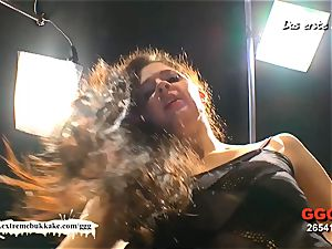 first-timer Nicole get her first-ever mass ejaculation group sex