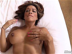 scorching Latina first-timer cougar first timer