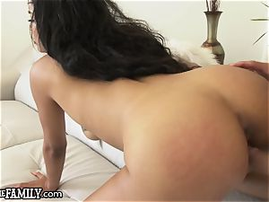Bratty black daughter-in-law disciplined by Military StepDaddy