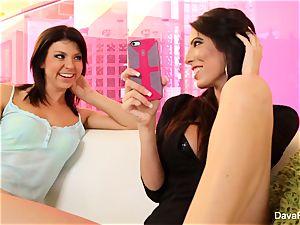 ultra-cute Tara pummels her big-boobed stepsister Dava
