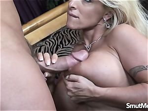 hefty breasted milf torn up