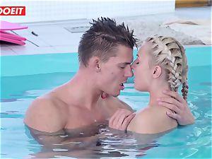 LETSDOEIT - super-steamy Czech couple Has passionate Pool sex