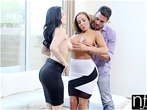 NF big-boobed - uber-sexy wife Gives Him large innate breast beauty