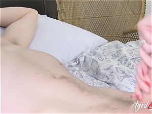 AgedLovE huge-chested Lacey Starr gonzo and blow-job
