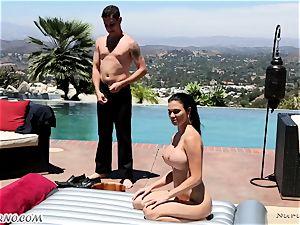 delectable huge-chested massagist Jasmine Jae gets dual titfucked