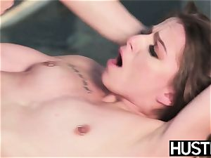 mushy babe Alana Summers gobbles spunk after outdoor pound