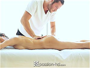 sexy Latina Chloe Amour shoots a load rigid after massage