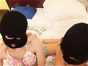 Jade Nile and Alli Rae are spunk-pump lovinТ criminals