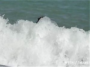 congenital milk cans and vaginas in this beach spy vid