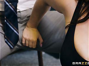 schoolteacher Angela milky filled testicles deep in her classroom
