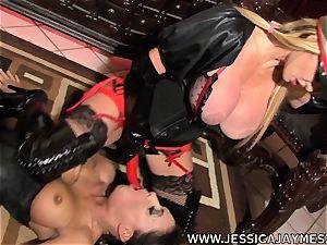 mega-bitch Jessica Jaymes and Taylor Wane the mistress