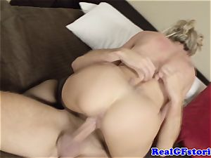 red-hot ash-blonde housewife cougar poked