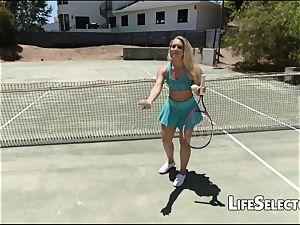 AJ Applegate - ultra-cute blondie likes get jism on her pink hole