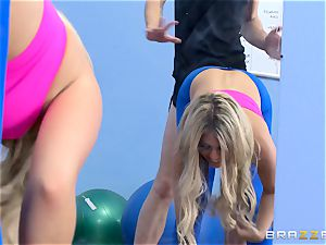 Gym stunner Madelyn Monroe eyes a thick trouser snake