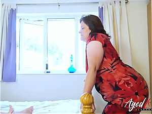 AgedLovE busty Mature frolicking rigid with comfortable fellow