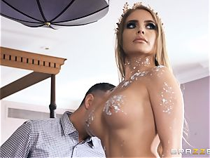 luxurious statue Alessandra Jane comes to life