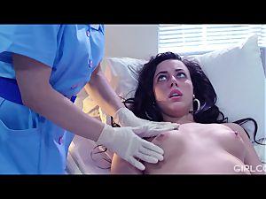 GIRLCORE lesbo Nurses Give nubile Patient Vaginal examination