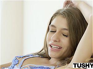 TUSHY first ass-fuck For teen Rebel Lynn