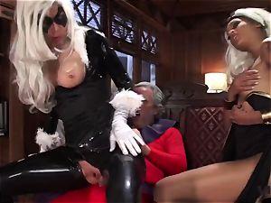Vivid.com - three supah Villains have a naughty 3 way
