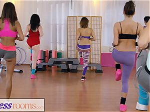 sport rooms gym chicks have lesbo 3 way