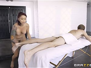 Monique Alexander secretly taking the humungous monster stiffy of Danny D in the backside