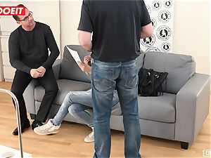 insane nubile Learns to burst in first time audition